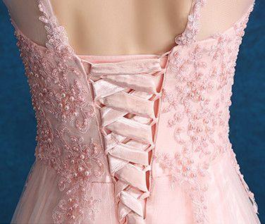 003d661d5a85 růžové tylové společenské šaty s krajkou na ples - plesové šaty ...